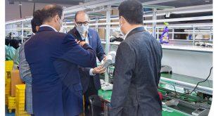 بازدید معاونت توسعه بازار شرکت کارت اعتباری ایران کیش و هیات همراه از کارخانه #فناپ_تک در شهرک صنعتی خرمشهر